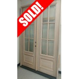 #Z044 5-0 8-0 Double Unfinished Mahogany 6-Lite Prehung Door