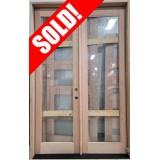 """#Z052102 5/0 x 8/0 Outswing Full Lite Mahogany Patio Door in 6-9/16"""" Jambs RH"""