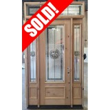 #Z052106 8' Tall Texas Star Knotty Alder with Sidelites and Transom