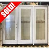#Z052108 8' Wide Fiberglass Full Lite Triple Patio Door