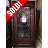 #Z053 Iron Door Square Top with Antique Copper Finish