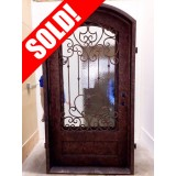 #Z056 Iron Door Arch Top with Antique Copper Finish