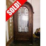 #Z058 Iron Door Radius Top with Antique Copper Finish