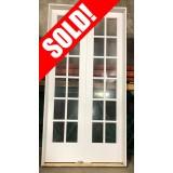 #Z062104 4/0 x 8/0 Interior Primed 12-Lite Double Door