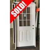 """#Z062106 36"""" Fiberglass 9-Lite Prehung Door"""