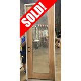 #Z062110 3/0 x 8/0 Full Lite Mahogany Door Unit