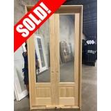 #Z062111 4/0 x 8/0 Pine Interior Door Unit in 6-9/16 Jambs