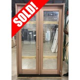 #Z072101 5/0 x 8/0 Mahogany Full Lite Patio (LH Outswing)
