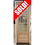 "#Z072103 32"" x 8' Tall 6-Lite Mahogany Door"