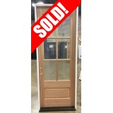 "#Z072104 36"" x 8' Tall 6-Lite Mahogany Door"
