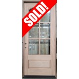 "#Z072105 42"" x 8' Tall 6-Lite Arch Low-E Mahogany Door"