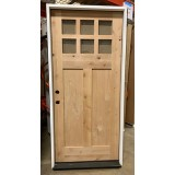"""#Z102001 36"""" Knotty Alder 6-Lite Craftsman Prehung Door"""