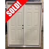 """#Z102002 5'0"""" 6-Panel Steel Double Door Unit"""