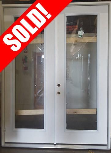 """#Z111802 6'0"""" x 8'0"""" Full Lite Fiberglass Double Door"""