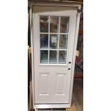 """#Z111804 2'8"""" 9-Lite Fiberglass Prehung Door"""