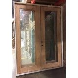 "#Z111805 6'0"" x 8'0"" Full Lite Unfinished Mahogany Double Door (Outswing)"