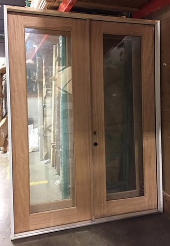 """#Z111805 6'0"""" x 8'0"""" Full Lite Unfinished Mahogany Double Door (Outswing)"""