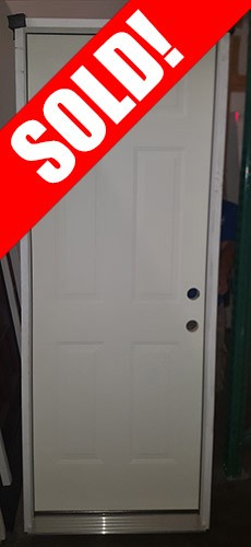"#Z111806 2'8"" 6-Panel Steel Prehung Door"