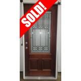"""#Z111901 36"""" 3/4 Lite Mahogany Prehung Wood Door Unit #53 (Scratch 'n Dent)"""