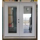 """#Z111902 6'0"""" Steel Miniblind Patio Door in 6-9/16"""" jambs (Scratch 'n Dent)"""