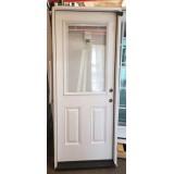 """#Z111904 2'8"""" Miniblind Half Lite Fiberglass Door"""