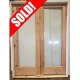 "#Z111906 5'0"" Knotty Alder Full Lite Patio Door Unit"