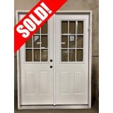 """#Z112001 5'0"""" Wide Steel 9-Lite Double Door"""