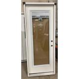 """#Z112005 32"""" Wide Fiberglass Full-Lite Miniblind Door"""