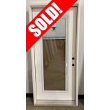 """#Z122005 36"""" Fiberglass Full Lite with Miniblinds (Outswing)"""