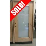 """#Z21802 36"""" Exterior 1-Lite Low-E Knotty Alder Door Prehung in Alder Jambs"""