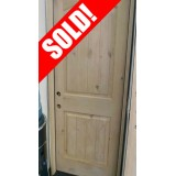 """#Z21803 30"""" Exterior 2-Panel Arch Knotty Alder Door Prehung in Alder Jambs"""