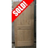 "#Z21906 36"" 2-Panel Knotty Alder Slab (no bore)"