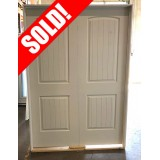 """#Z21909 4'8"""" 2-Panel Arch V-Grooved Double Interior (no bore)"""