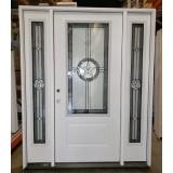 "#Z21913 3'0"" Texas Star 3/4 Lite Fiberglass Door w/14"" Sidelites (RH)"