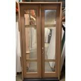#Z22001 4-0 8-0 Unfinished Mahogany Full Lite Exterior Prehung Door