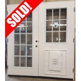 "#Z31802 6'0"" 15-Lite/9-Lite Fiberglass Patio w/Pet Door"