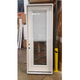 "#Z31804 36"" 8'0"" Tall Mini-blinds Fiberglass Prehung Door"