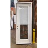 """#Z31804 36"""" 8'0"""" Tall Mini-blinds Fiberglass Prehung Door"""