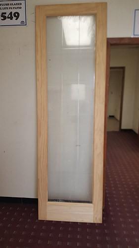 "#Z31805 30"" 8'0"" Tall 18-Lite V-Grooved Glass Pine Interior Slab"