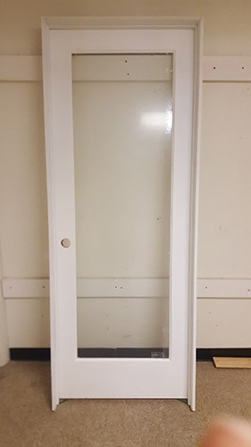 "#Z31806 30"" 6'8"" Tall Full Lite Primed Interior Prehung"