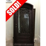 #Z31810 Iron Door Eyebrow Top with Antique Copper Finish