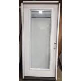 "#Z31811 36"" 6'8"" Tall Mini-blinds Full Lite Fiberglass Prehung Door"