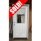 "#Z31812 36"" 6'8"" Tall Mini-blinds Half Lite Fiberglass Prehung Door"