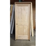 "#Z31814 32"" 2-Panel Knotty Alder Interior Prehung in Alder Jambs"
