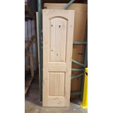 "#Z31815 24"" 2-Panel Arch V-Groove Knotty Alder Slab"