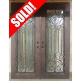 """#Z31902 76"""" x 98"""" Iron Double Door"""