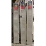 """#Z41807 24"""" wide 8' tall Primed Louver Bi-Fold"""