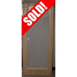 "#Z41812 32"" Pine interior slab with privacy glass"