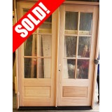 #Z41901 6-0 8-0 6-Lite Low-E 1-Panel Mahogany Double Door Unit