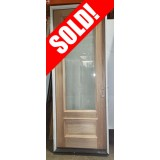 "#Z51903 36"" x 8' 3/4 Lite Clear Low-E Mahogany Door in Primed Jambs"